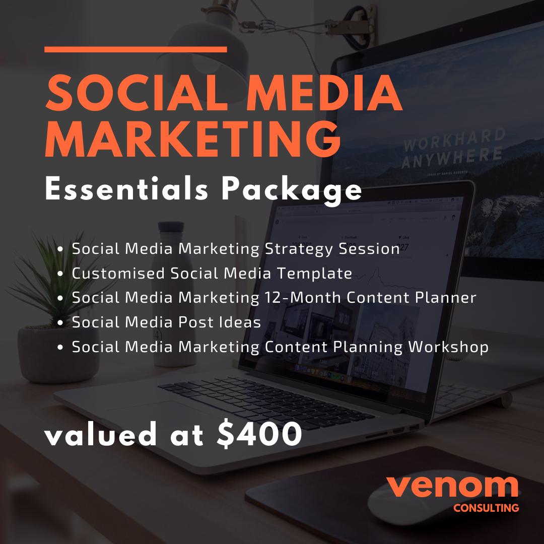 Venom Consulting | Social Media Marketing | Essentials Package